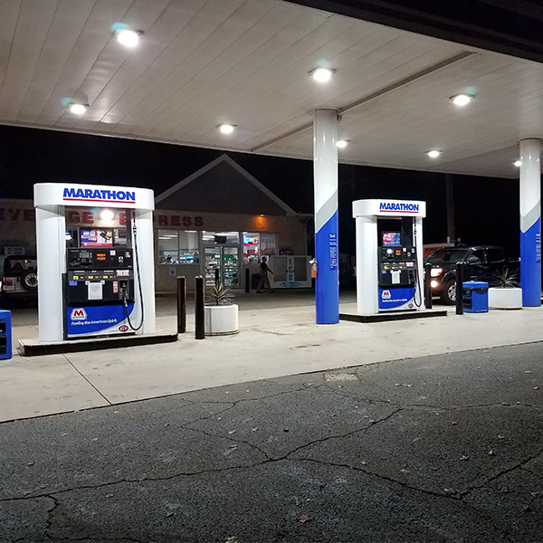 gas station lighting project