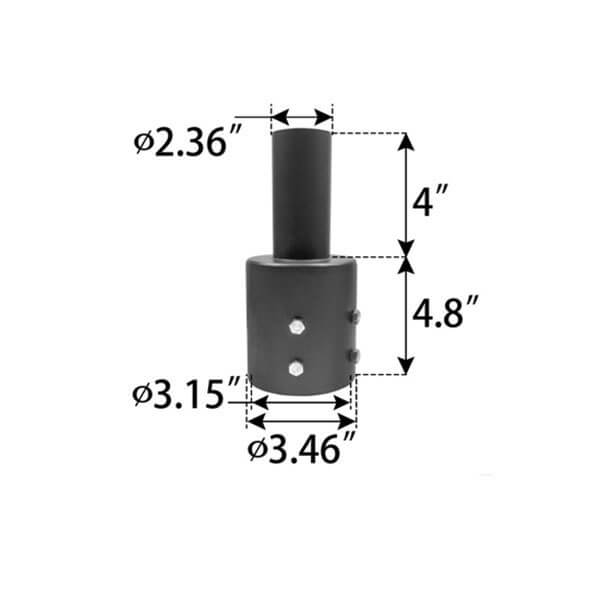 round pole adapter