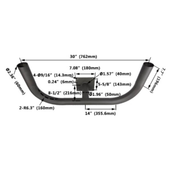 bullhorn floodlight mounting bracket